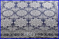 1840 Antique Pre Civil War Wool Jacquard Coverlet Woven Coverlet American