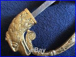 1840s Pre Civil War American Eagle Pommel Officers Sword withFederal Eagle Head