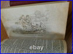 1844 HOLY BIBLE Pre Civil War American Leather Antique