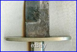1860's Fighting Knife Etched The Americans Pride Equal Rights, Law, & Justice