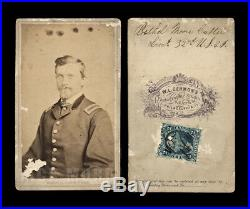 1860s Lt B Custer USCT African American Troops Civil War Soldier / SIGNED & ID'd