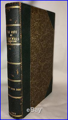 1866 LIFE OF STONEWALL JACKSON by A VIRGINIAN CIVIL WAR AMERICAN SOUTH HISTORY