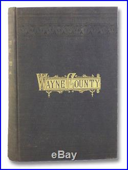 1883 Military History Wayne County New York NY American Civil War Union Soldiers