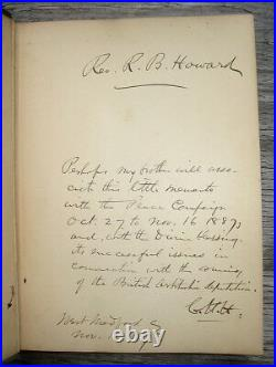 1887 AMERICAN INDIAN Tribes WARS Massacres Military SIGNED BY CIVIL WAR GENERAL