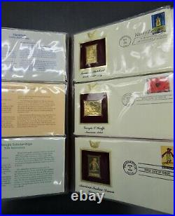 1994, 1995, & 1996 Golden Replicas Of United States Stamps 75ct. 22kt Rg-236