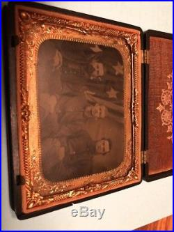 1/4 Plate Tintype Civil War Soldiers. American Flag. Civil War Union