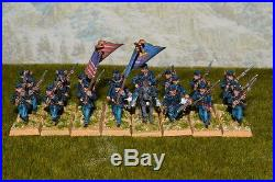 1/56 28mm DPS painted ACW American Civil War Union Infantry RC409