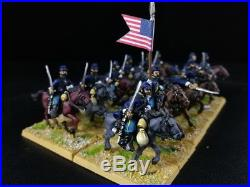 1/56 28mm DPS painted ACW Union Cavalry RC759