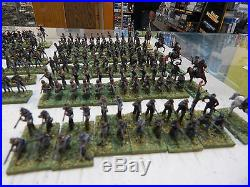 1/72 plastic painted American Civil War Confederate Infantry and Cavalry # 6