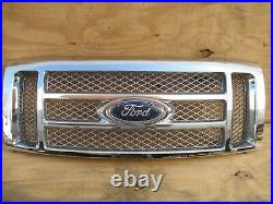 2009 2014 Ford F 150 Front Radiator Cover Grill Grille Panel Al3j8200acw Oem