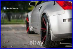 20 Ac Wheels Ac02 Gloss Black With Red Milled Extreme Concave Rims (b123)
