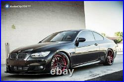 20 Staggered Ac Wheels Ac01 Gloss Black Red Inner Extreme Concave Rims (s42)