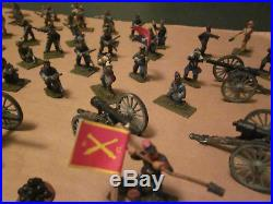 25mm/28mm painted metal ACW army/Infantry & Artillery, Federals & Confeds, nice