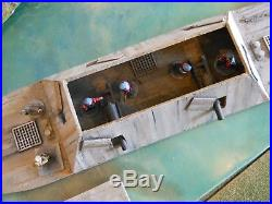 28mm Acw Merrimack Style Ship Painted With Crews