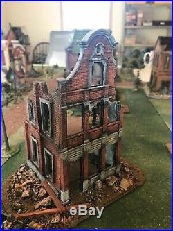 28mm Battle Damaged Building Ww1, Ww2, Acw Many Other Eras Painted And Based