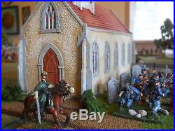 28mm Church With Cemetary Ww1, Ww2, Acw, Awi, Etc. Painted And Based