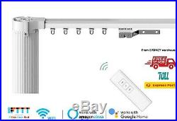 2-6M DIY Smart Motorised Curtain Rail, Smart Curtains, WIFI Electric Curtains