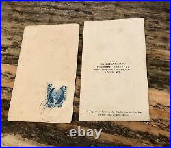 2 Remarkable 1860s CDV Photos African American Men in Nevada Civil War Tax Stamp