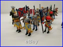 30 x Southerner Custom Flags and soldiers Playmobil Soldiers vs. Yankee Acw Csa