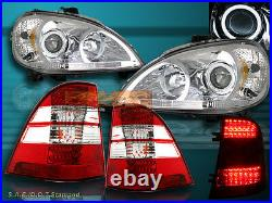 98-01 Mercedes Benz Halo Ccfl Projector Headlights W163 M-class+ Tail Lights Led