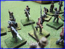 ACW 28mm CSA Infantry Army/Painted metal wargaming/Huge 50 fig. Group, Old Glory