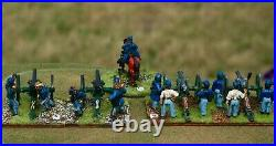 ACW Union gun batteries 28mm metal figures painted with crew and commander