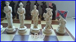 AMERICAN CIVIL WAR CHESS SET -Rose /Ivory finishes