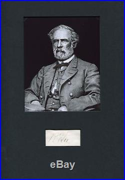 AMERICAN CIVIL WAR GENERAL Robert E. Lee autograph, signed album page mounted