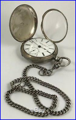 AMERICAN WATCH Co. CIVIL WAR Am. EAGLE Union Officers Silver Hunting Case 1863