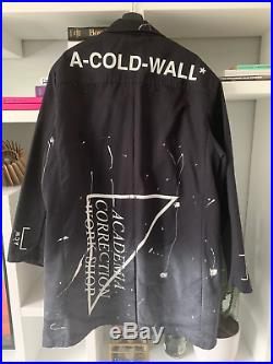 A-COLD-WALL ACW Academia Correction Warehouse Paint Splatter Coat Navy, L/Large