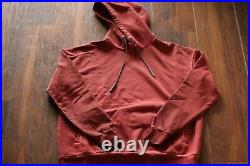 A-COLD-WALL CLASSIC FLAT OVERLOCK HOODY Size Small\S Red RUST ACW
