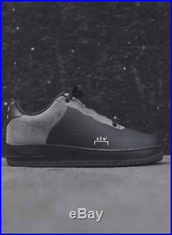 A COLD WALL X NIKE AIR FORCE 1'07 Black NIKELAB ACW CONFIRMED SIZE US 7