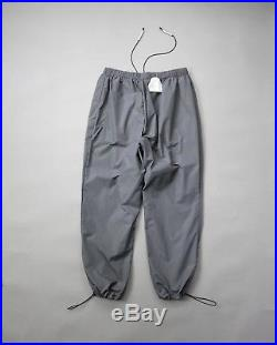 A-Cold-Wall ACW GREY PRINTED TECHNICAL NYLON TRACK PANTS RELAXED FIT 67I-WKO015