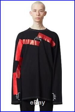 A Cold Wall Acw Beam contrasting refractions of red vertical longsleeve