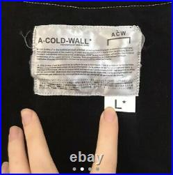A Cold Wall Acw Black Contrast Stitch Flared Sleeve Size Large Jumper Top
