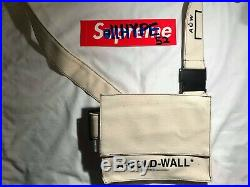 A Cold Wall Canvas Shoulder Bag ACW Off-White in Biege one size