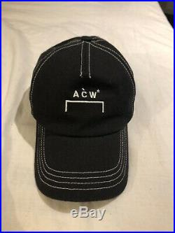 A Cold Wall Cap Black White Stiching 100% Authentic Acw