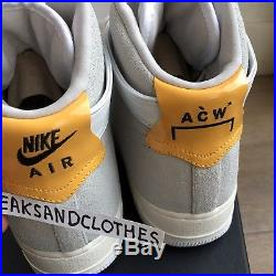 A Cold Wall X Nike Air Force 1 AF1 UK9 US 10 ACW SAMUEL ROSS Vlone