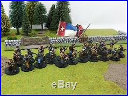 Acw Confederate Infantry Pro Painted By Eye 28mm Crusader Mini