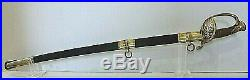 American CIVIL War M1850 Staff & Field Officer's Sword Signed C Roby & Co C 1861