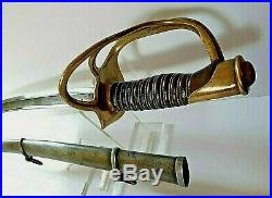 American CIVIL War M 1860 Ames Cavalry Saber Sword Dated 1865