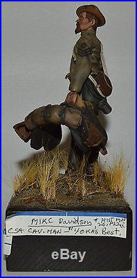 American Civil War (110MM) Confederate Calvary Painted by Mike Davidson (UPS1)