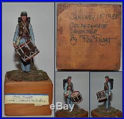 American Civil War (70MM) Confederate Drummer Painted by Ron Rudat (UPS1)
