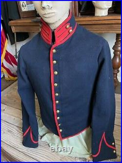 American Civil War Artillery Shell Jacket 1861-1865. Original and Authentic