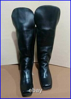 American Civil War Cavalry Officer's Knee High Stove Long Real Leather Boot