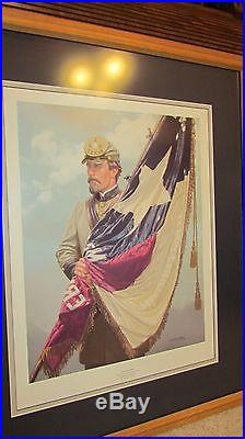American Civil War Print The Lone Star by Michael Gnatek with 1st Texas