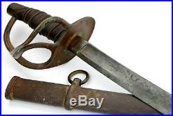 American Civil War era Confederate Cavalry Sword with Captured US 1865 Ames Co
