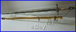 American Mexican War CIVIL War Early Ames General High Officer Sword C 1837-46