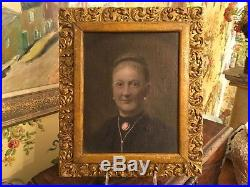 American Oil Painting Civil War Era Lady Lovely Frame
