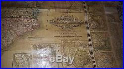 Antique 1850 Wall Map of the American Republic Augustus Mitchell pre civil war